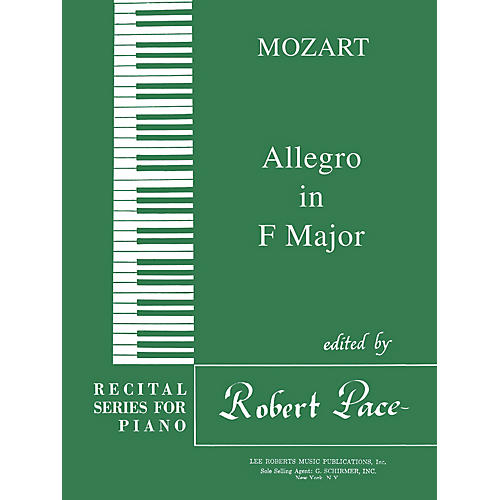 Lee Roberts Allegro in F Major Pace Piano Education Series Composed by Wolfgang Amadeus Mozart thumbnail