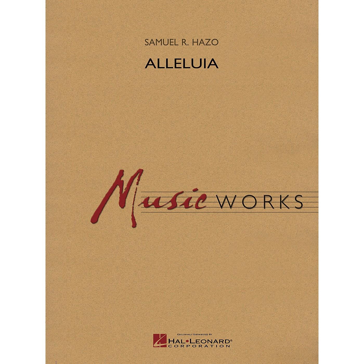 Hal Leonard Alleluia Concert Band Level 5 Composed by Samuel R. Hazo thumbnail