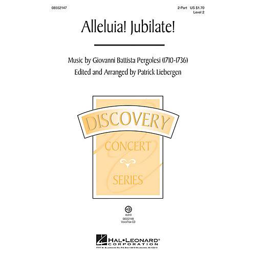 Hal Leonard Alleluia! Jubilate! (Discovery Level 2) VoiceTrax CD Arranged by Patrick Liebergen thumbnail