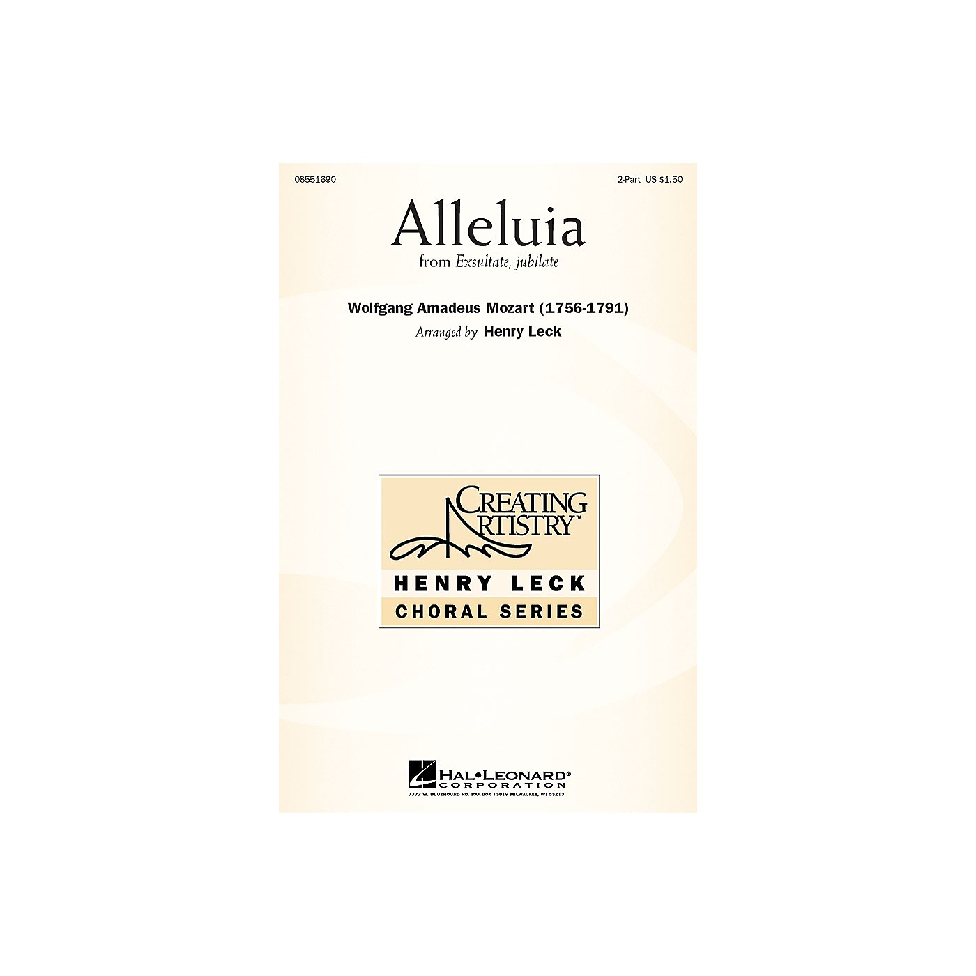 Hal Leonard Alleluia (from Exsultate, Jubilate) 2-Part arranged by arr. Henry Leck thumbnail