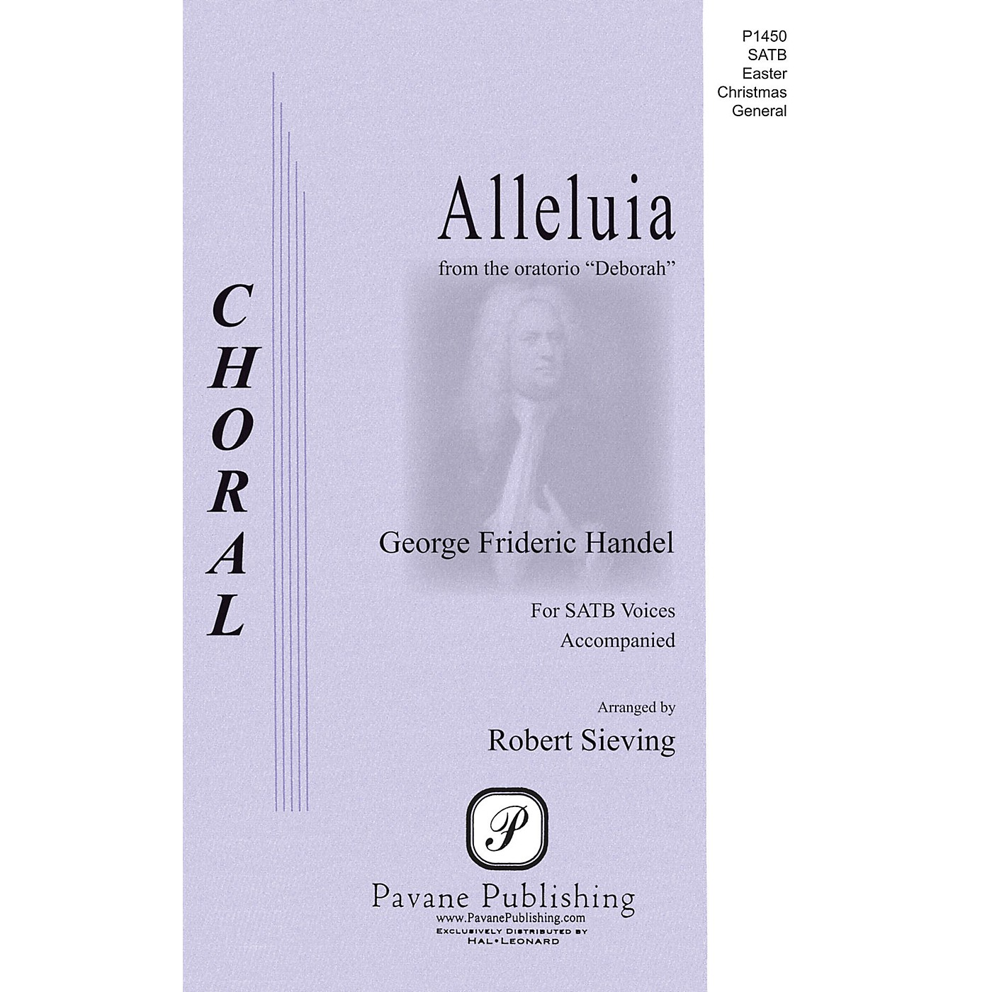 Pavane Alleluia (from the Oratorio Deborah) SAATB composed by George Frideric Handel thumbnail