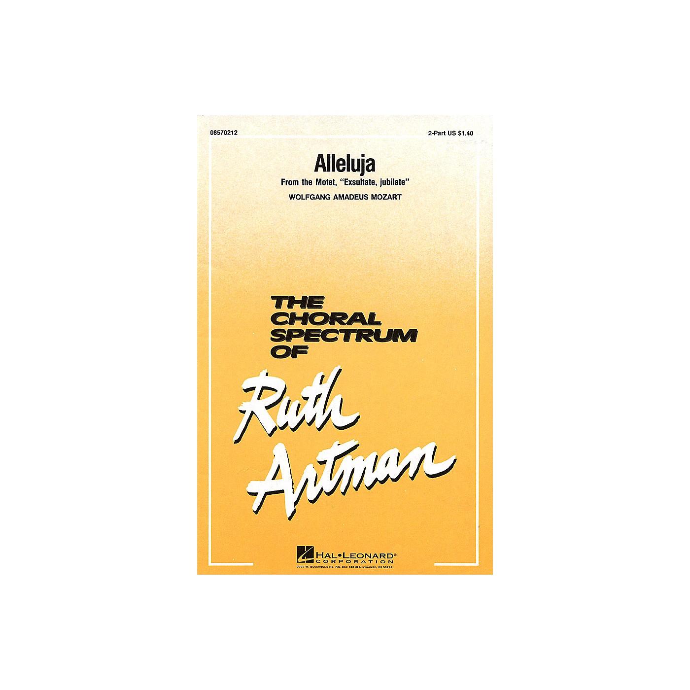 Hal Leonard Alleluja 2-Part arranged by Ruth Artman thumbnail