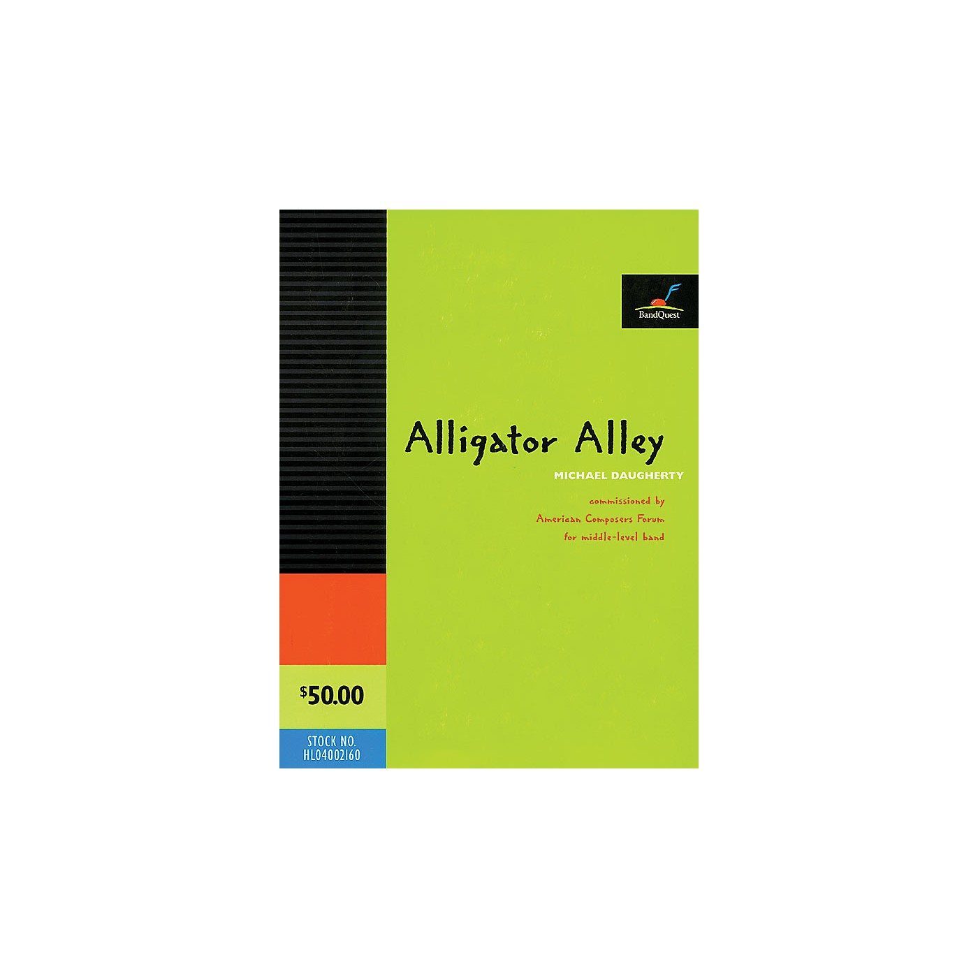 American Composers Forum Alligator Alley (for Youth Symphonic Band Score and Parts) Concert Band Level 3 by Michael Daugherty thumbnail