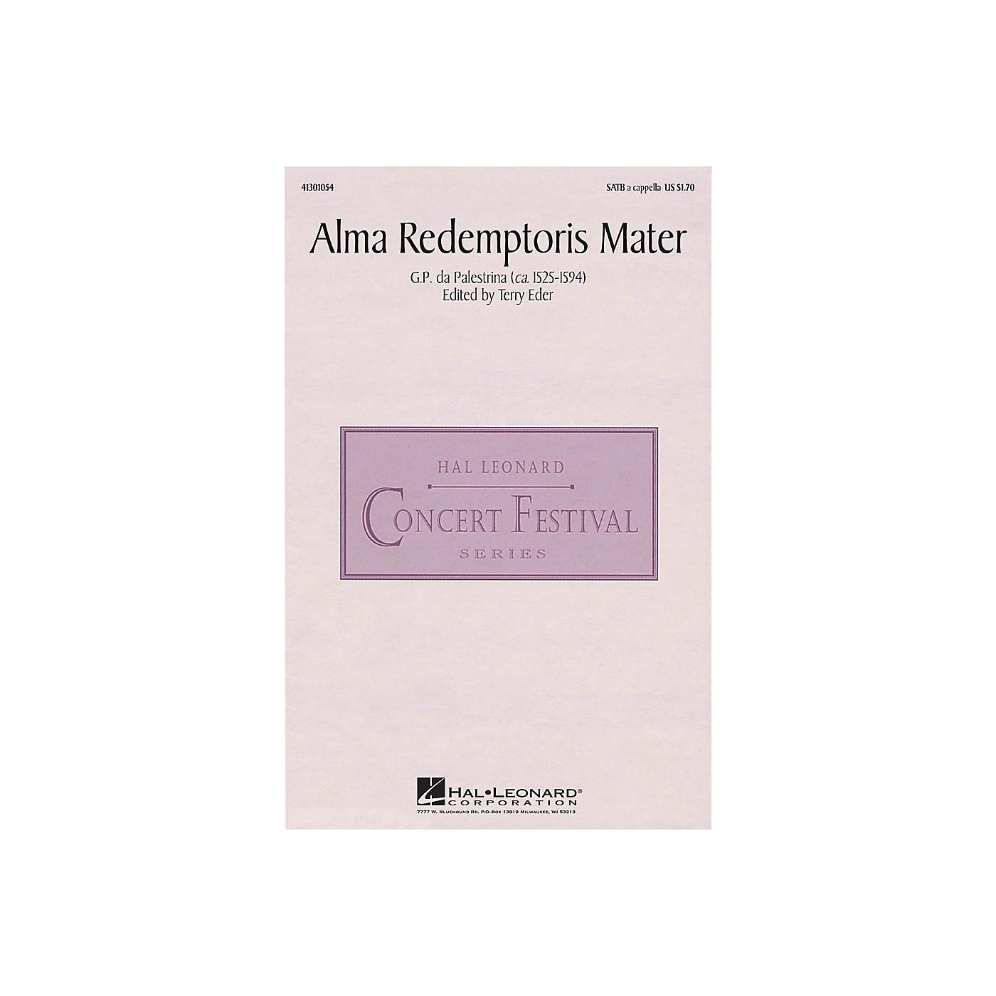 Hal Leonard Alma Redemptoris Mater SATB a cappella arranged by Terry Eder thumbnail