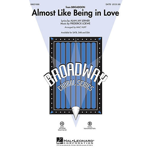 Hal Leonard Almost Like Being in Love SAB Arranged by Mac Huff thumbnail