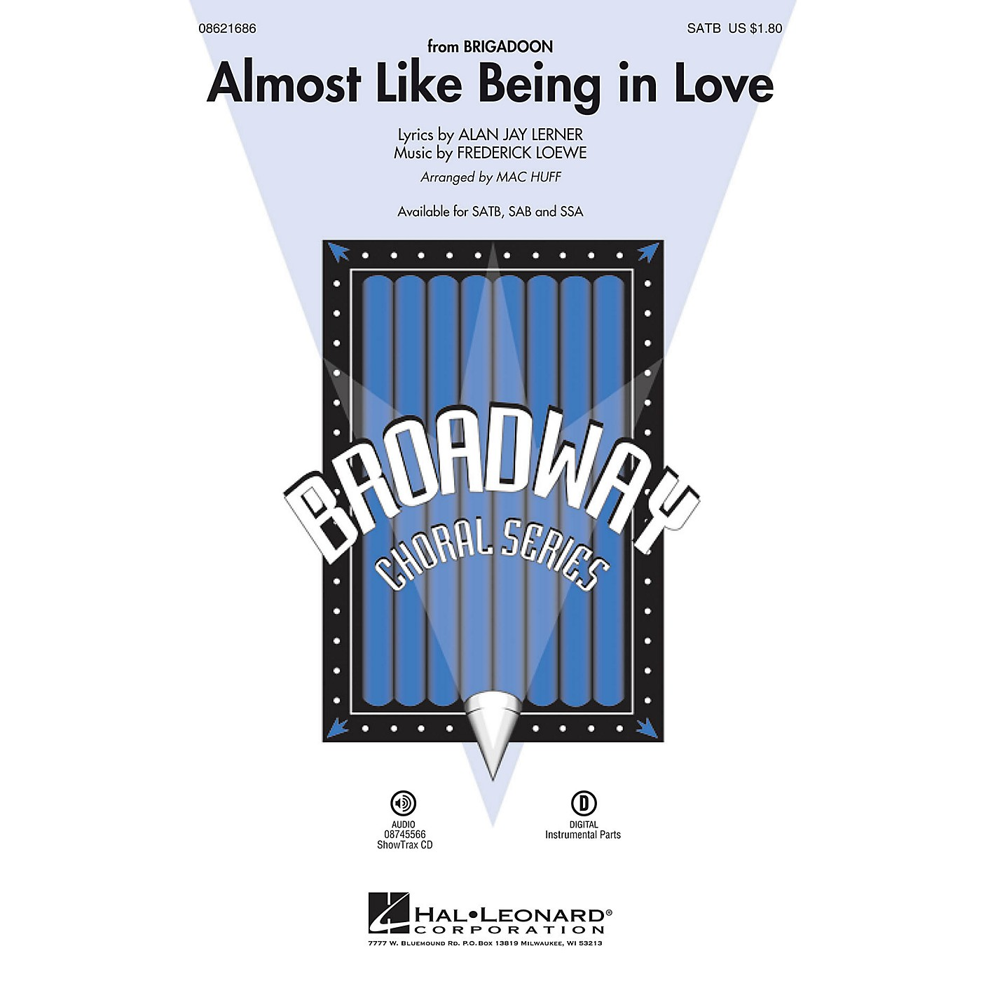 Hal Leonard Almost Like Being in Love (from Brigadoon) SATB arranged by Mac Huff thumbnail