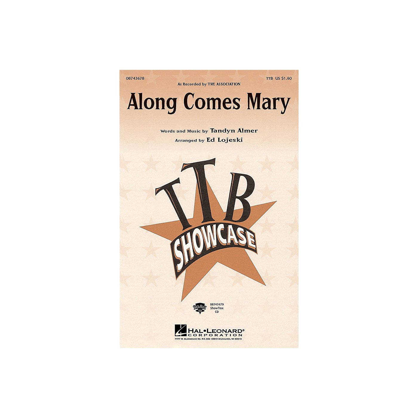 Hal Leonard Along Comes Mary ShowTrax CD by The Association Arranged by Ed Lojeski thumbnail
