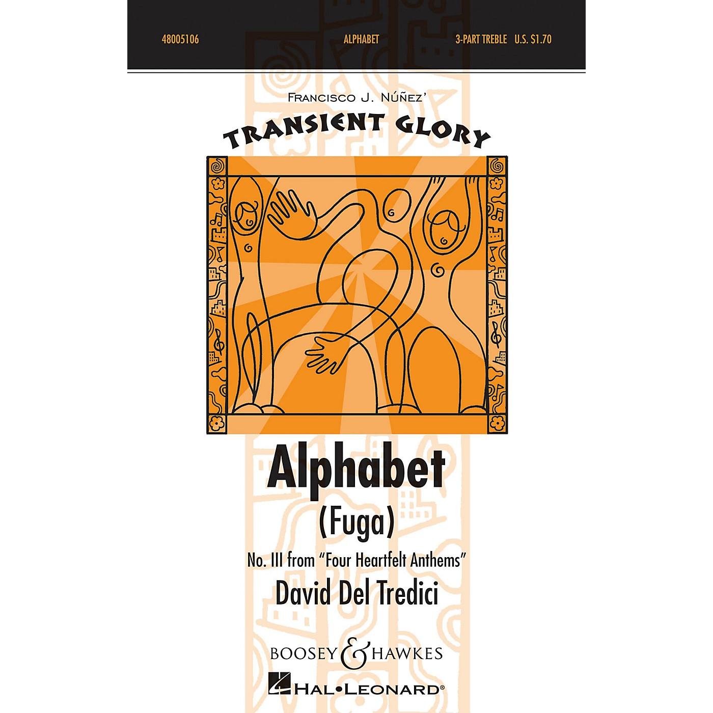 Boosey and Hawkes Alphabet (Fuga) SSA A Cappella composed by David Del Tredici thumbnail