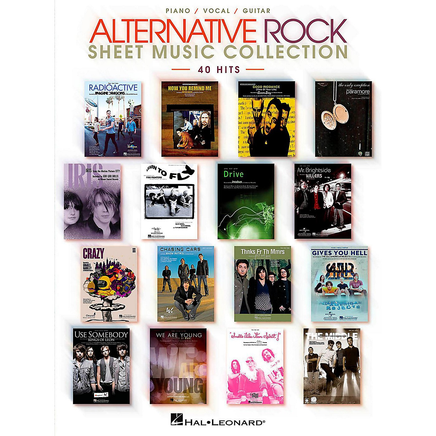 Hal Leonard Alternative Rock Sheet Music Collection Piano/Vocal/Guitar Songbook thumbnail