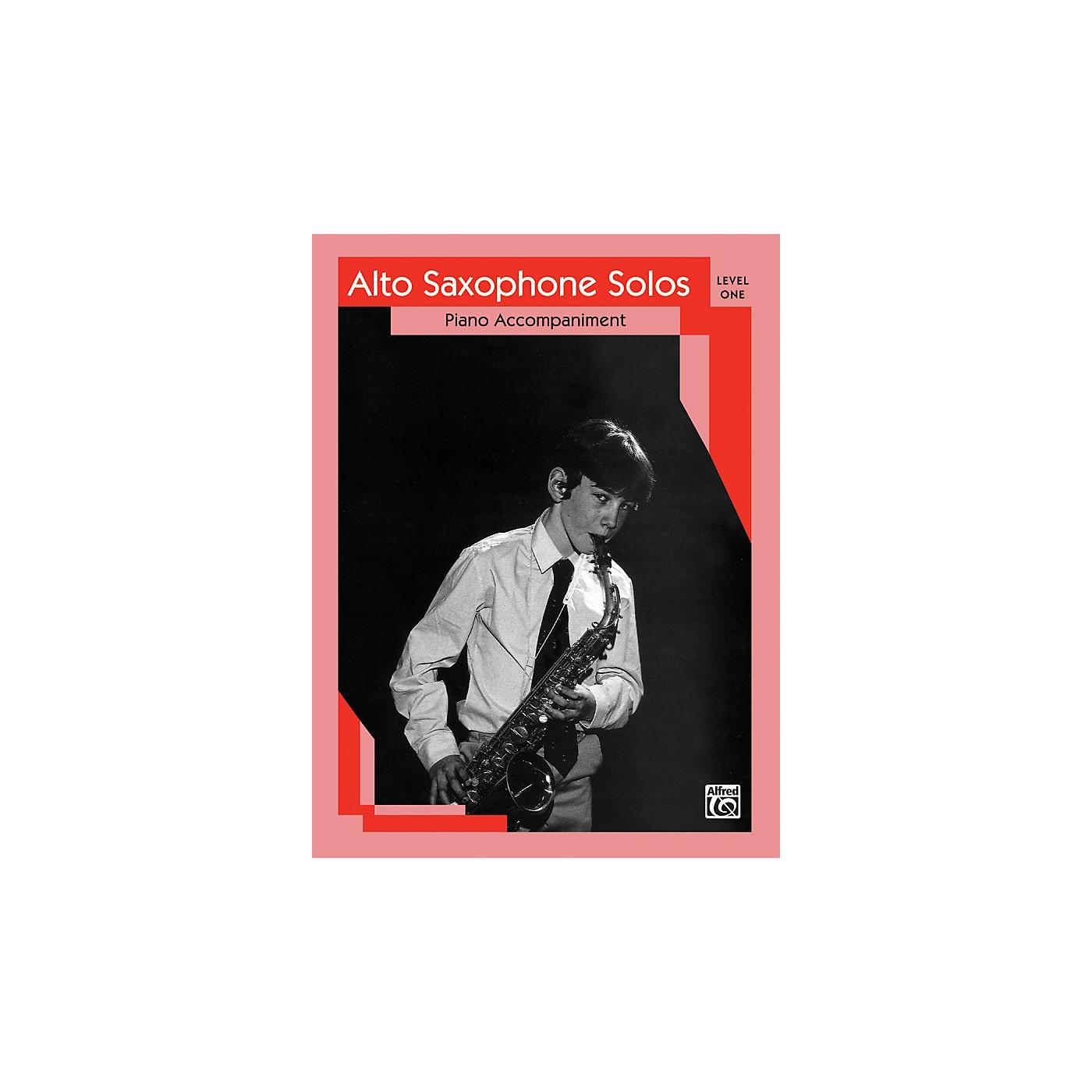 Alfred Alto Saxophone Solos Level I Piano Acc. thumbnail