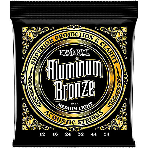 Ernie Ball Aluminum Bronze Medium Light Acoustic Guitar Strings thumbnail