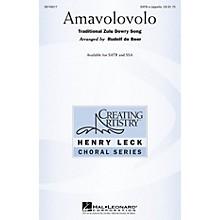 Hal Leonard Amavolovolo SATB arranged by Rudolf de Beer