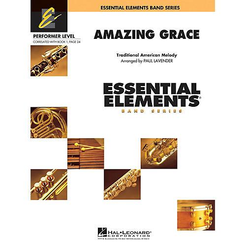 Hal Leonard Amazing Grace Concert Band Level .5 to 1 Arranged by Paul Lavender thumbnail