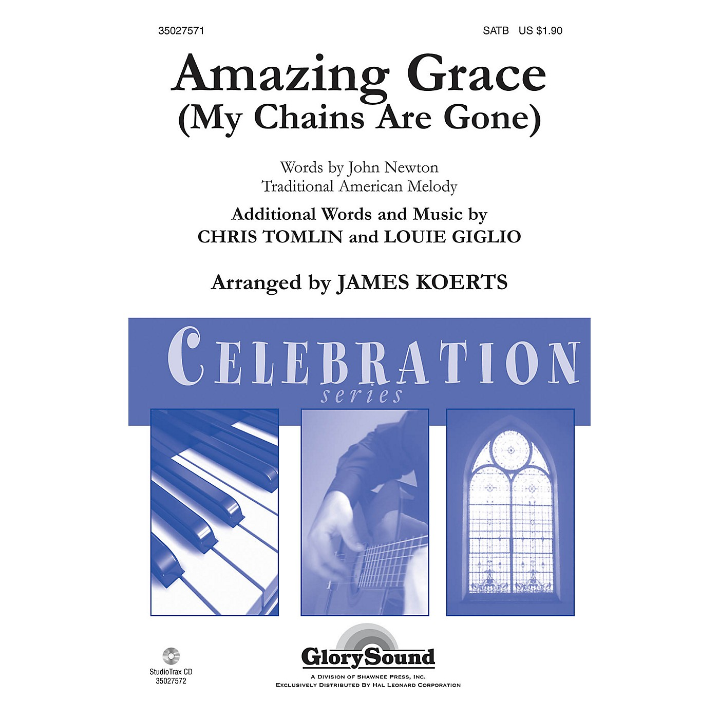 Shawnee Press Amazing Grace (My Chains Are Gone) Studiotrax CD Arranged by James Koerts thumbnail