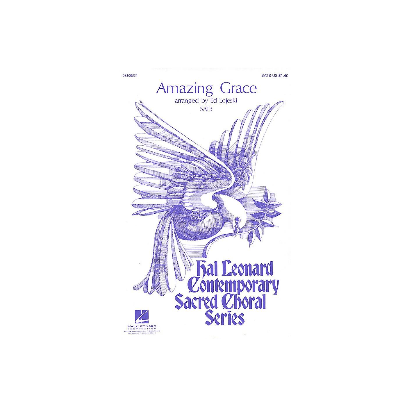 Hal Leonard Amazing Grace SATB arranged by Ed Lojeski thumbnail