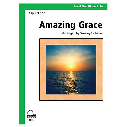 SCHAUM Amazing Grace (Schaum Level One Piano Solo) Educational Piano Book thumbnail