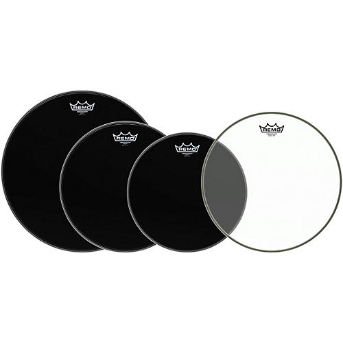 Remo Ambassador Standard Resonant Pro Pack with Free 14 in. Ambassador Hazy Snare-Side Drum Head-thumbnail