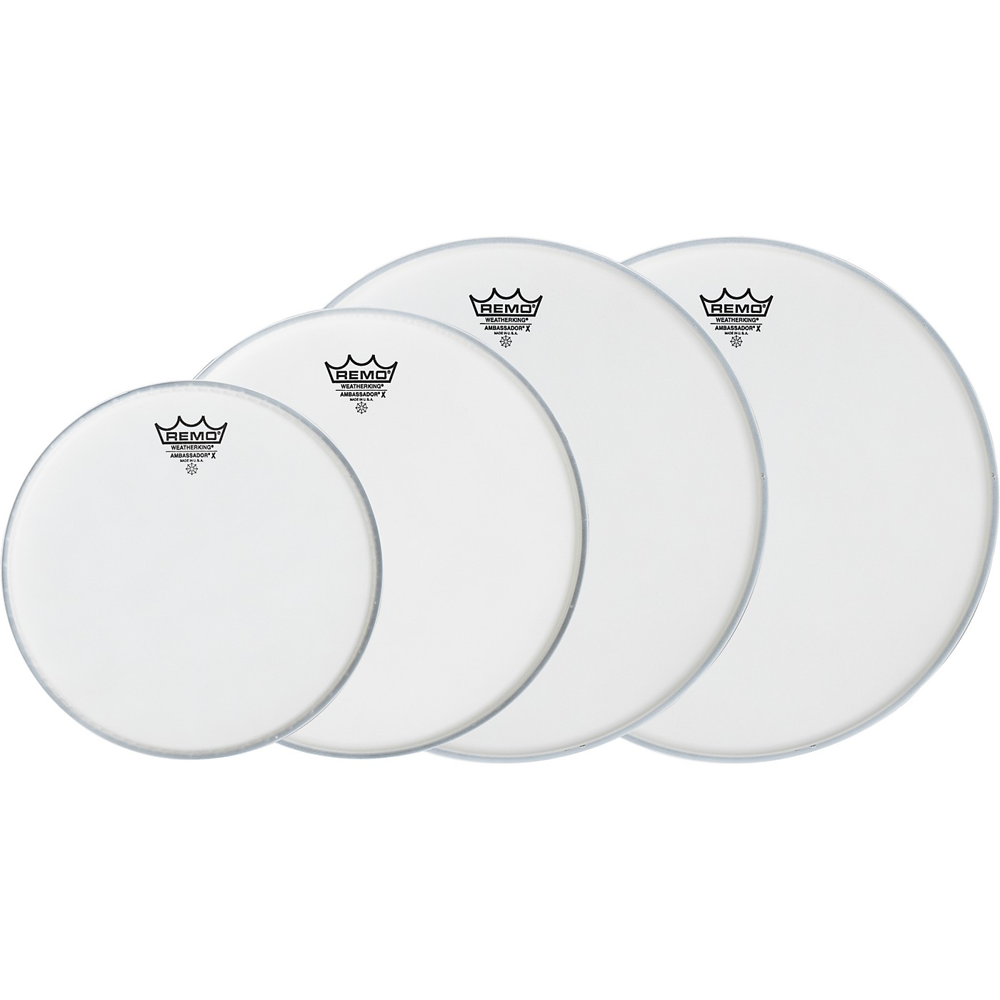 Remo Ambassador X Fusion Drumhead Pack, Buy 3 Get a Free 14 Inch Head thumbnail