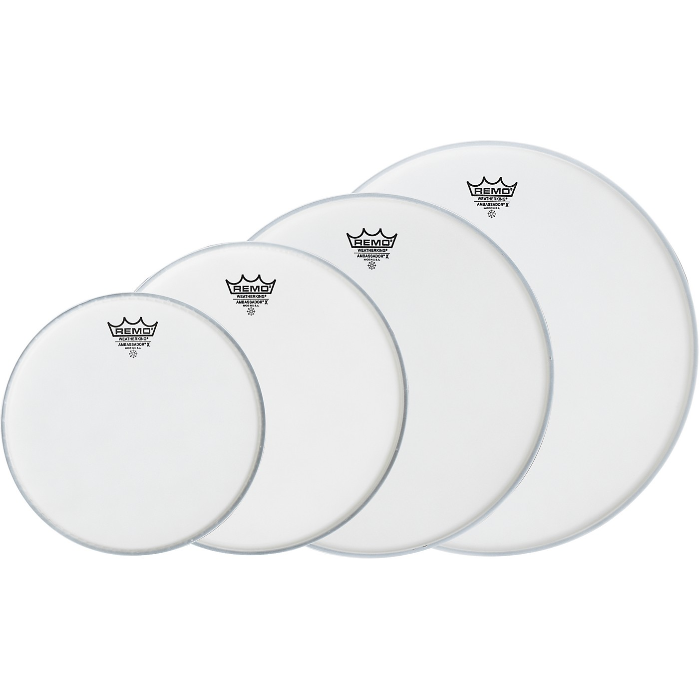 Remo Ambassador X New Fusion Drumhead Pack, Buy 3 Get a Free 14 Inch Head thumbnail