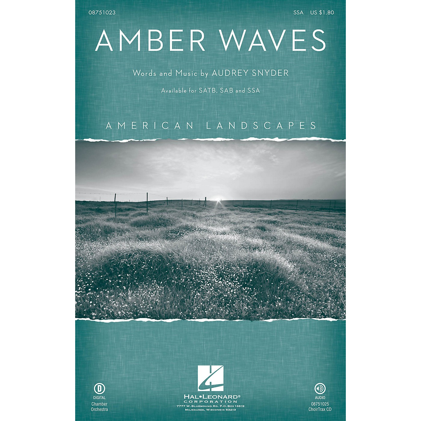 Hal Leonard Amber Waves (from American Landscapes) SSA composed by Audrey Snyder thumbnail
