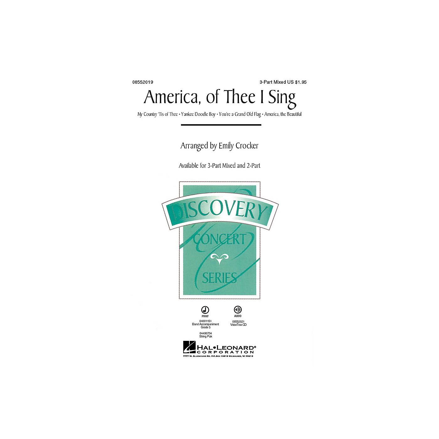 Hal Leonard America, of Thee I Sing (Medley) VoiceTrax CD Arranged by Emily Crocker thumbnail