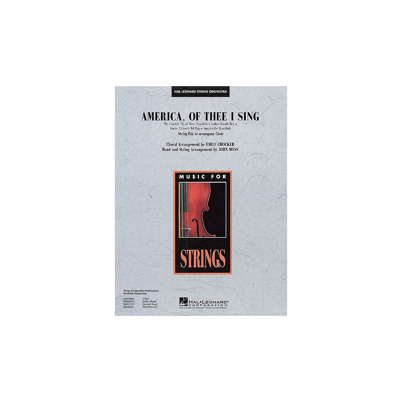 Hal Leonard America, of Thee I Sing Music for String Orchestra Series Arranged by John Moss thumbnail