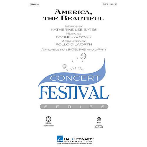 Hal Leonard America, the Beautiful SAB Arranged by Rollo Dilworth thumbnail