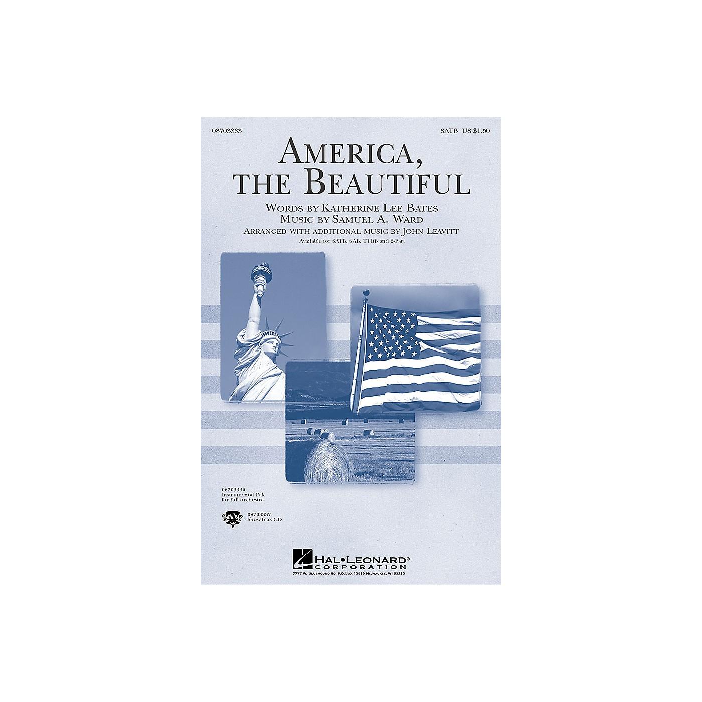 Hal Leonard America, the Beautiful ShowTrax CD Arranged by John Leavitt thumbnail