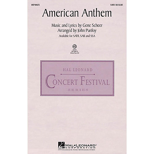 Hal Leonard American Anthem (from The War) SATB arranged by John Purifoy thumbnail