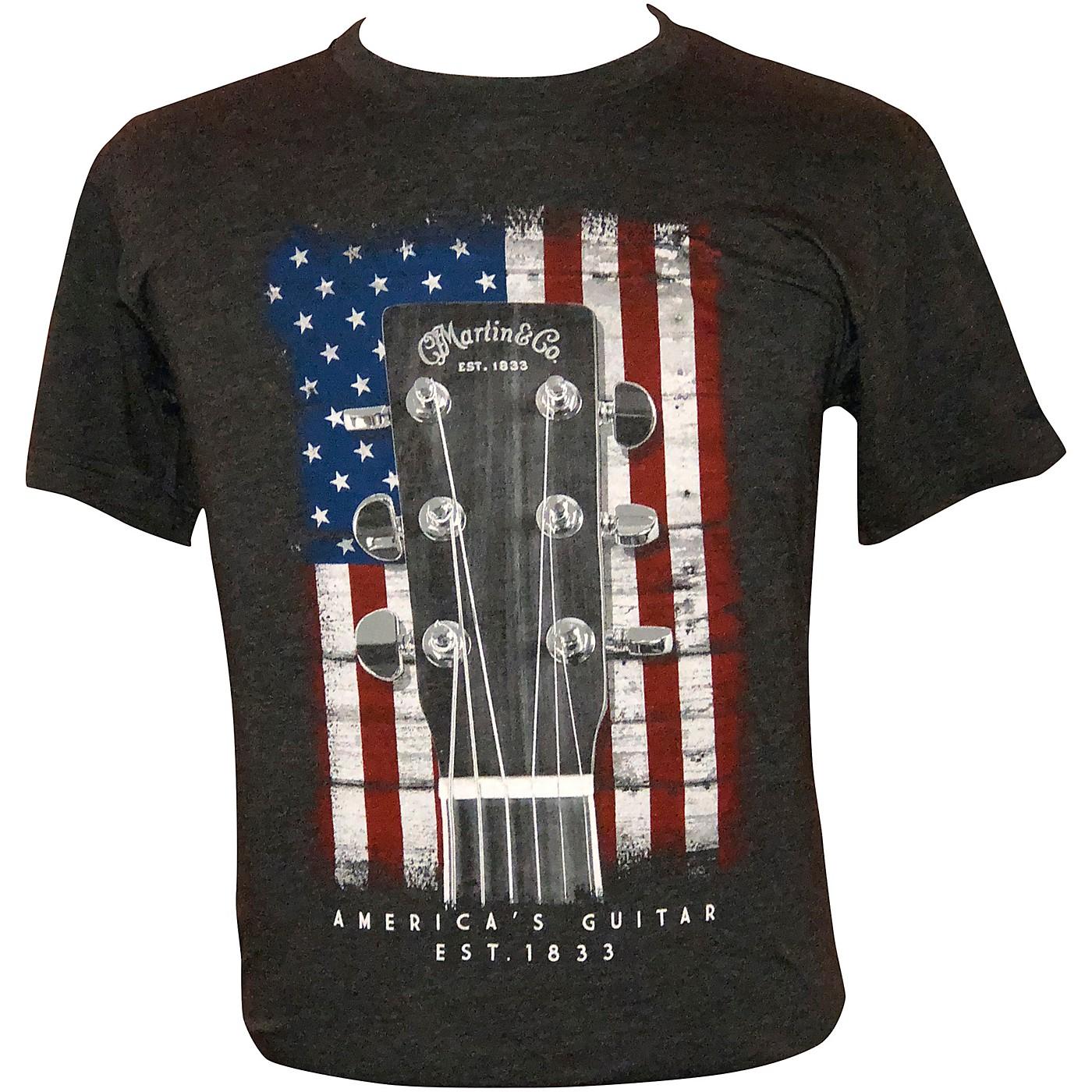 Martin American Flag Guitar T-Shirt thumbnail