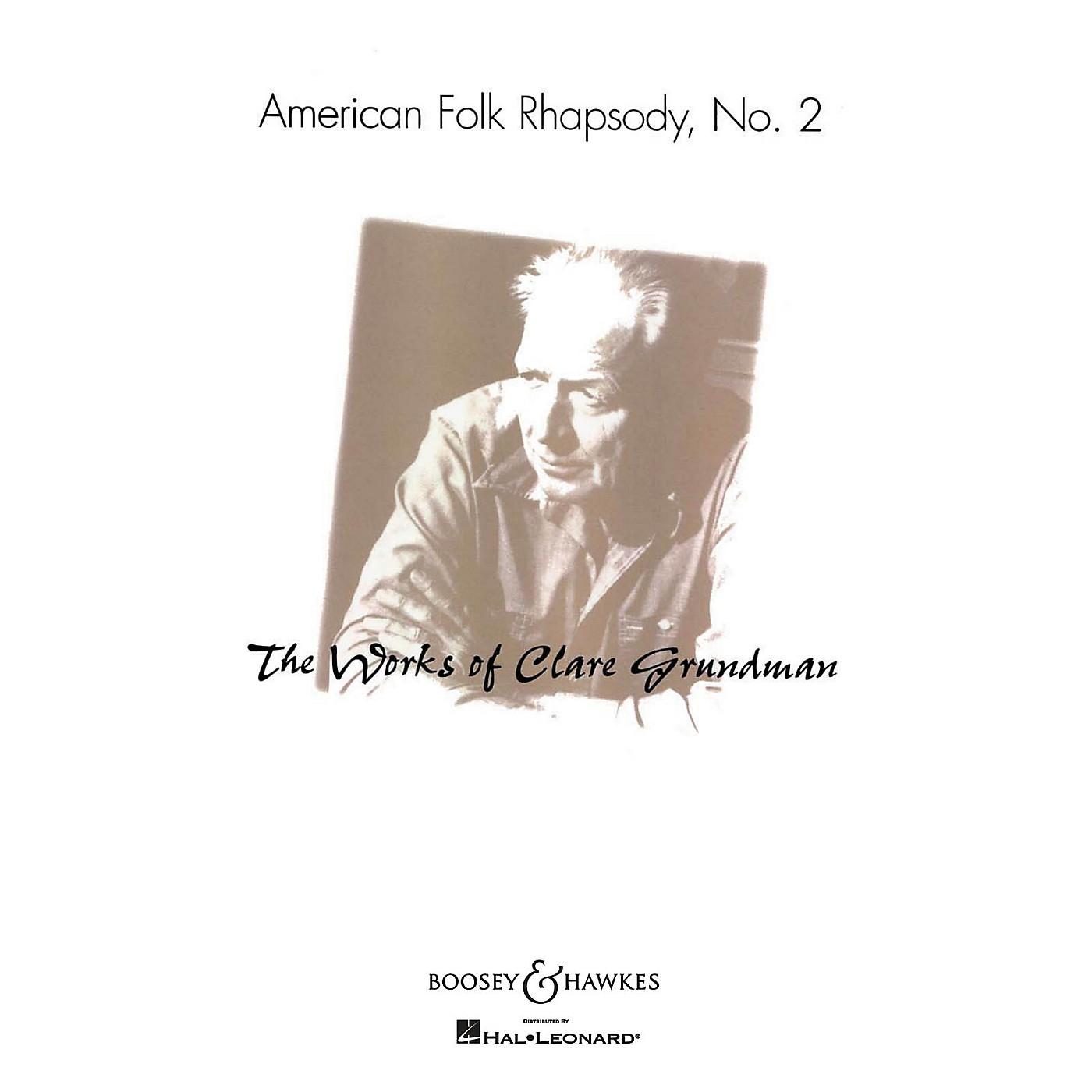Boosey and Hawkes American Folk Rhapsody No. 2 (American Folk Rhapsody No. 2) Concert Band Level 3-4 by Clare Grundman thumbnail