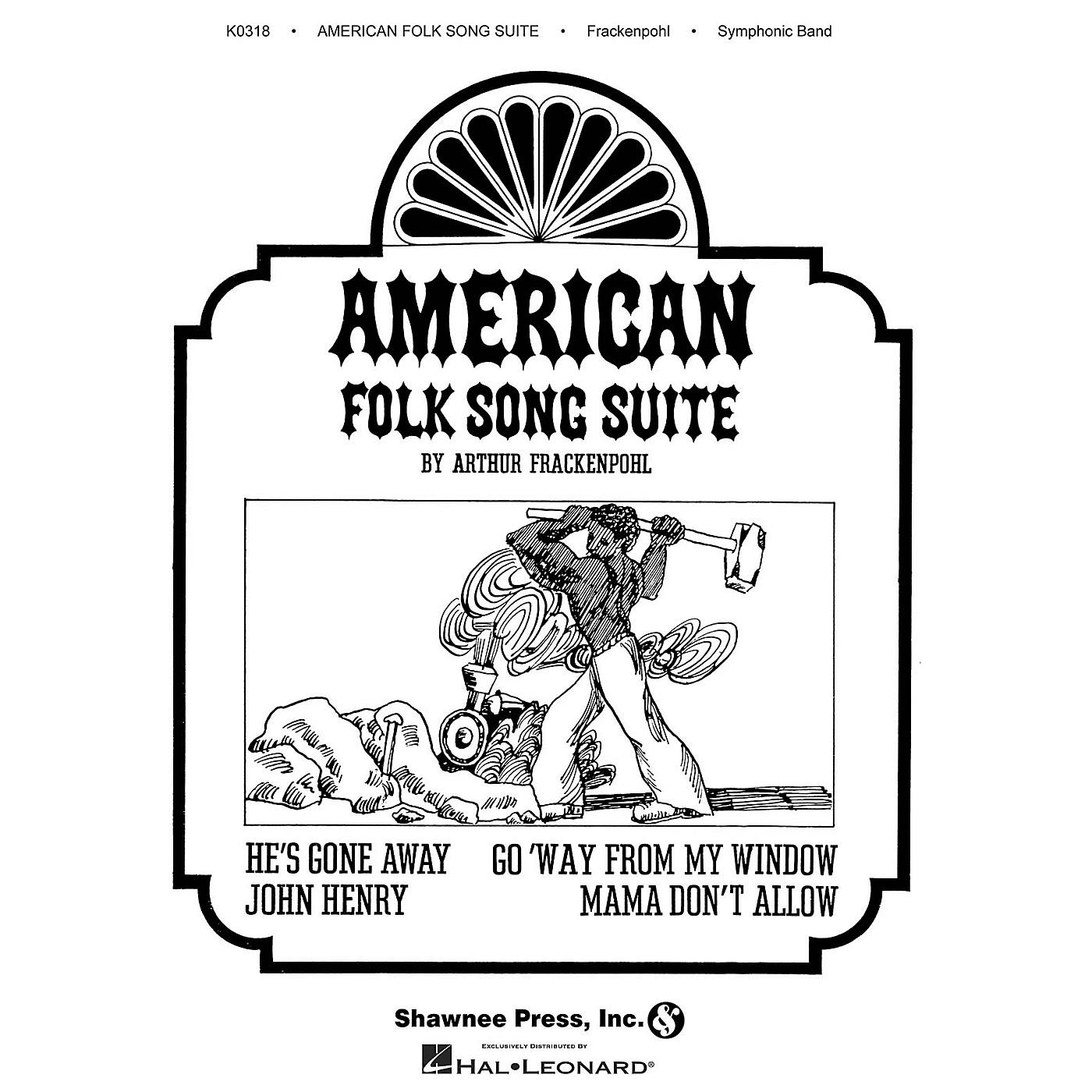 Hal Leonard American Folk Song Suite Concert Band Composed by Arthur Frackenpohl thumbnail