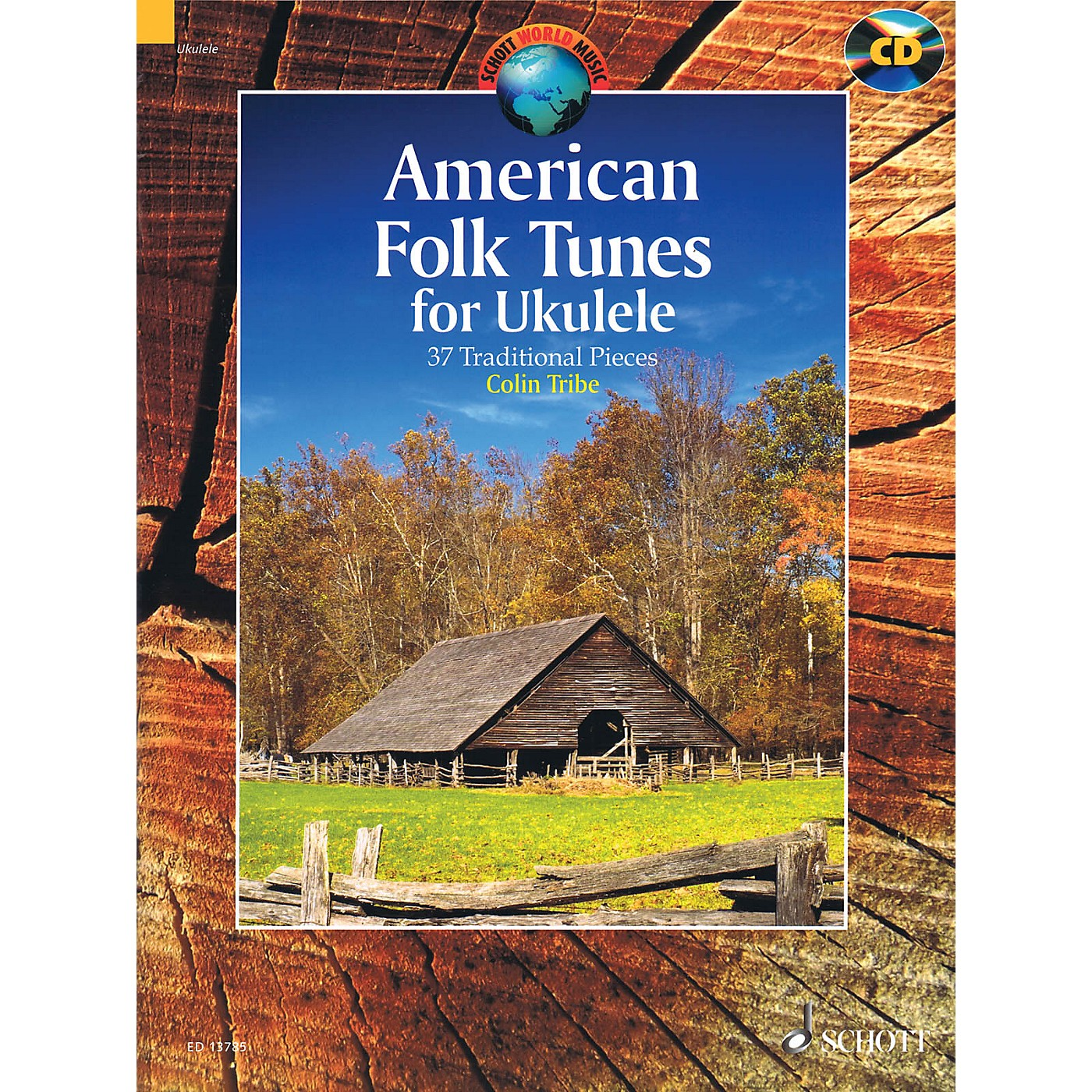 Schott American Folk Tunes for Ukulele (37 Traditional Pieces) String Series Softcover with CD by Colin Tribe thumbnail