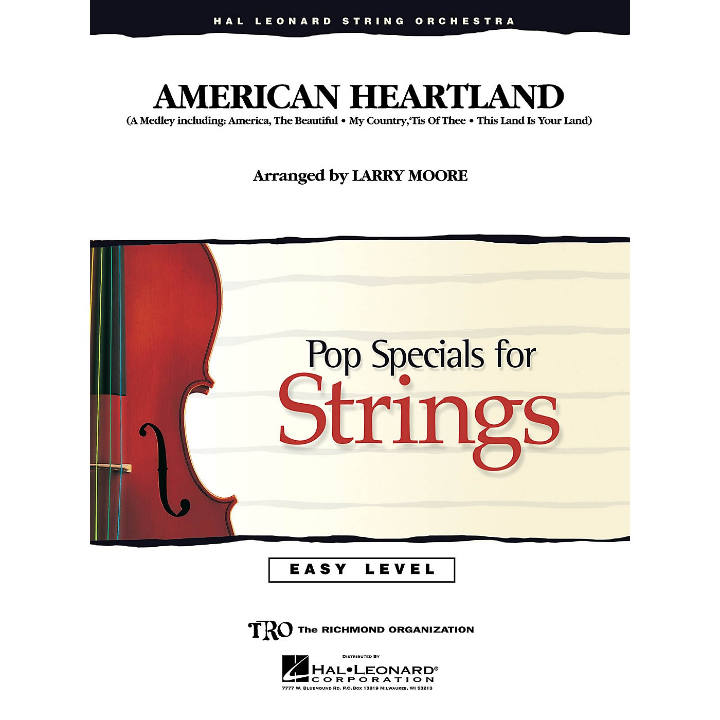 Hal Leonard American Heartland Easy Pop Specials For Strings Series Arranged by Larry Moore thumbnail