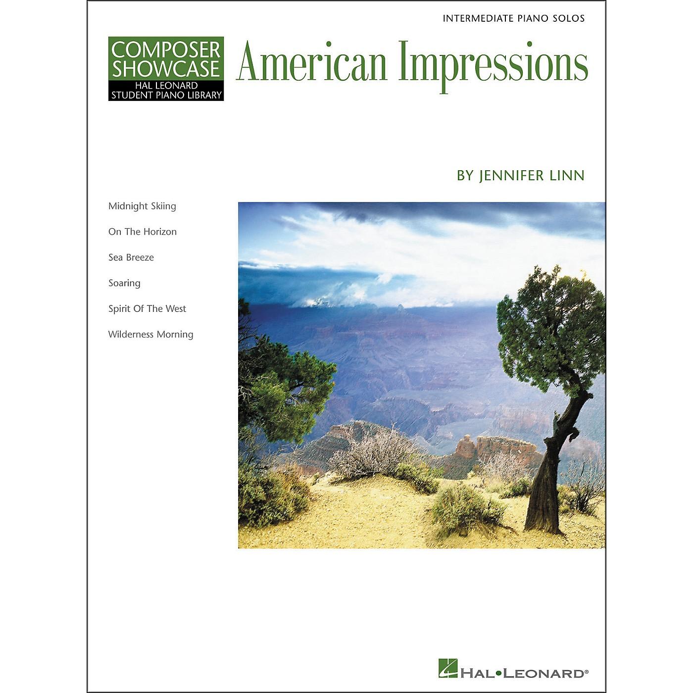 Hal Leonard American Impressions - Composer Showcase Series Intermediate Hal Leonard Student Piano Library by Jennifer Linn thumbnail