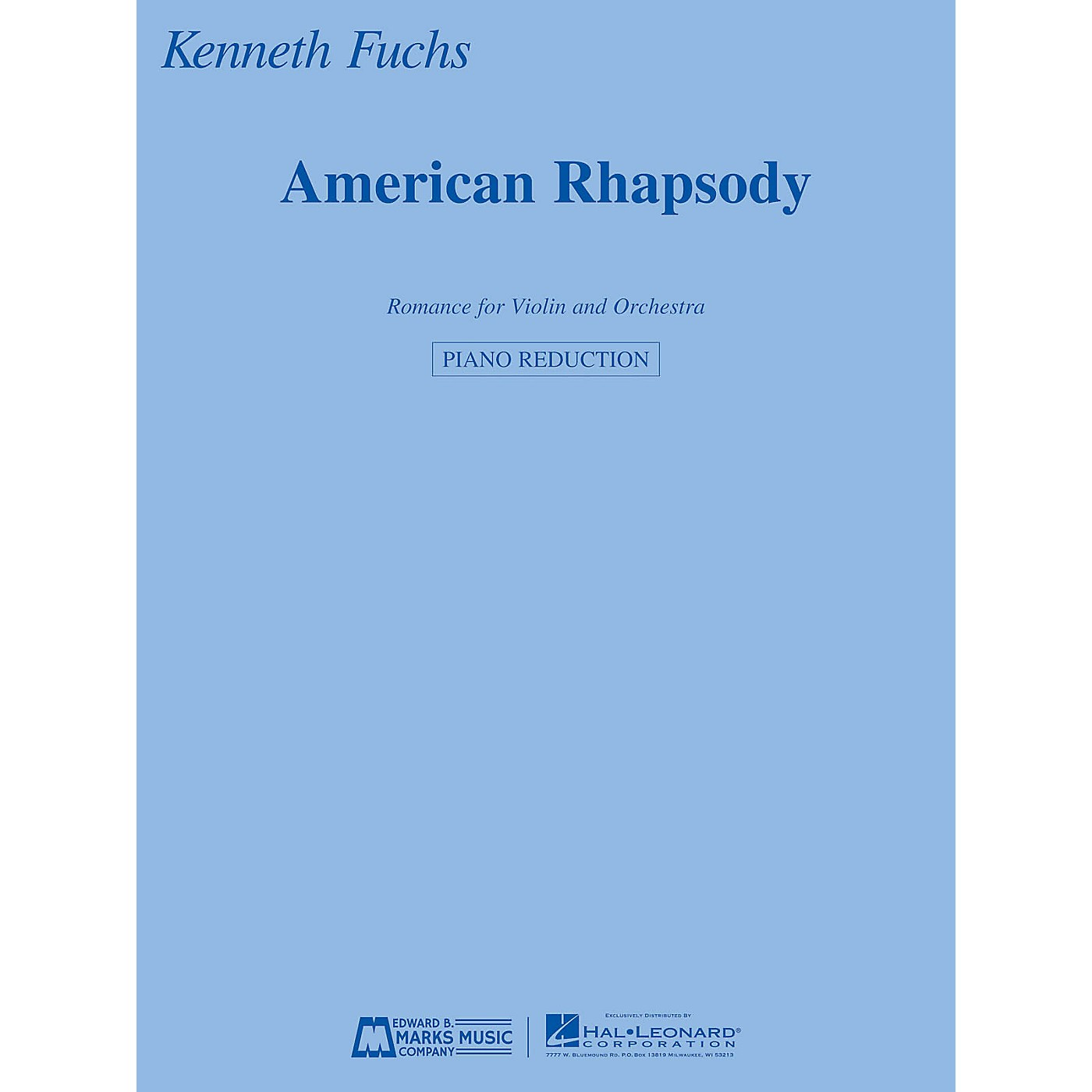 Edward B. Marks Music Company American Rhapsody E.B. Marks Series Softcover Composed by Kenneth Fuchs thumbnail