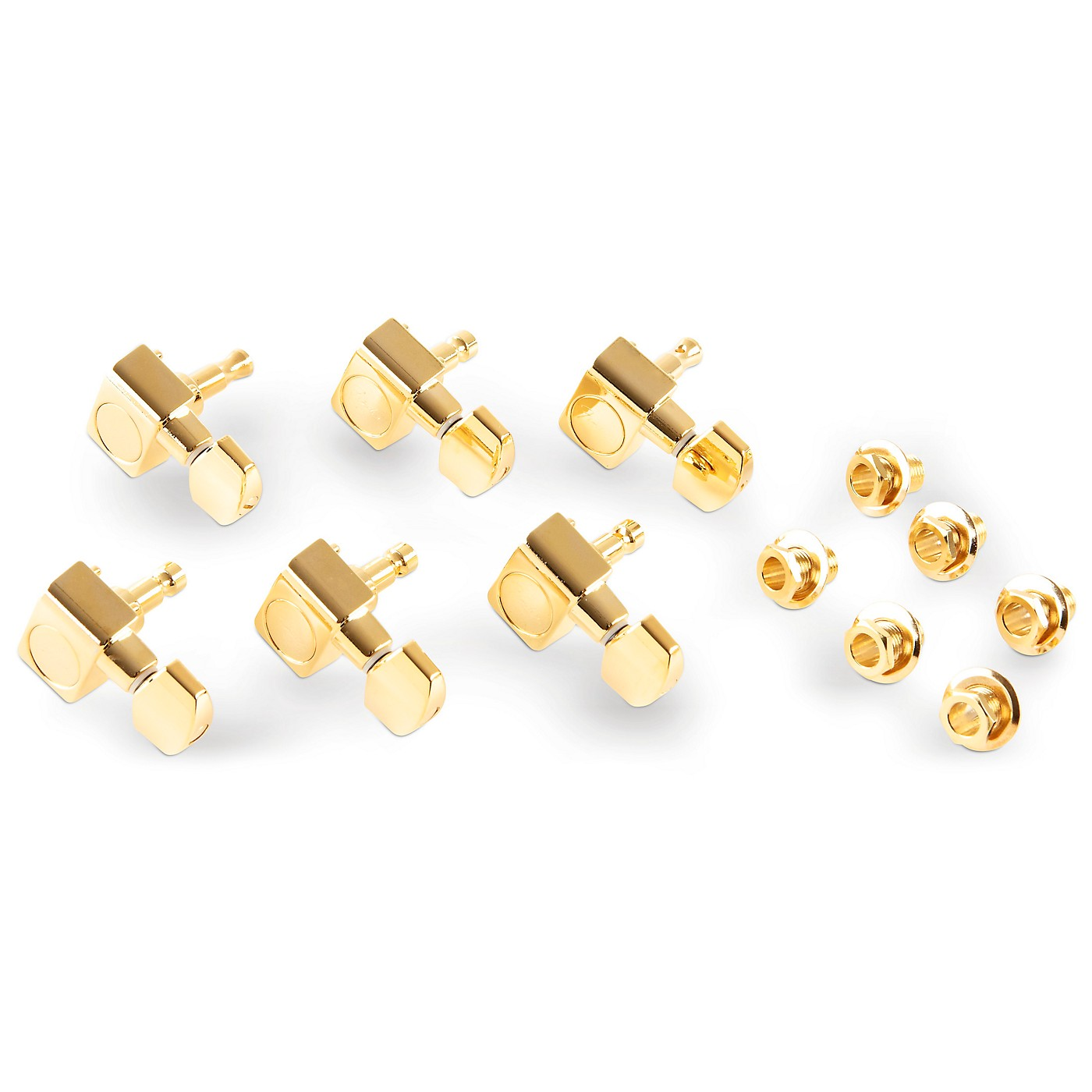 Fender American Series Stratocaster Guitar Tuners with Gold Hardware Set of 6 thumbnail