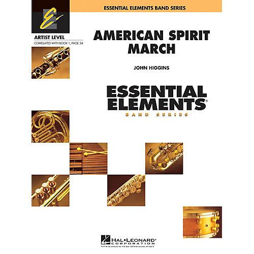 Hal Leonard American Spirit March Concert Band Level 1 Composed by John Higgins thumbnail