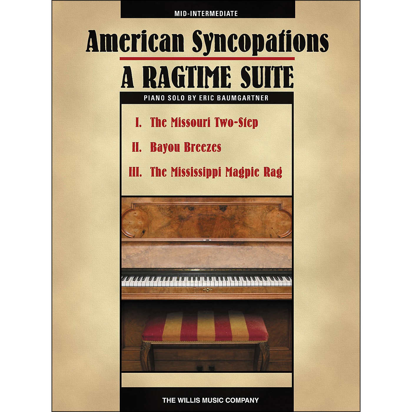 Willis Music American Syncopations - A Ragtime Suite - Mid-Intermediate Piano Solo Sheet by Eric Baumgartner thumbnail