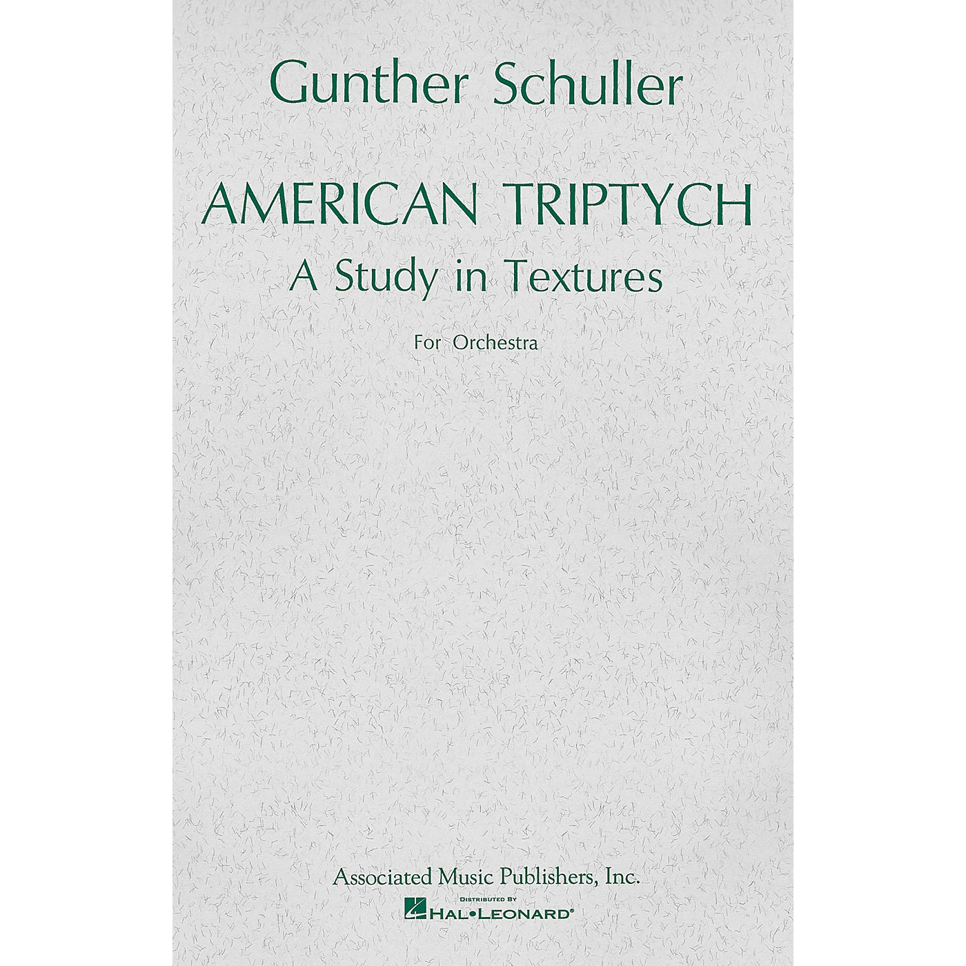 Associated American Triptych (1965) (Miniature Full Score) Study Score Series Composed by Gunther Schuller thumbnail