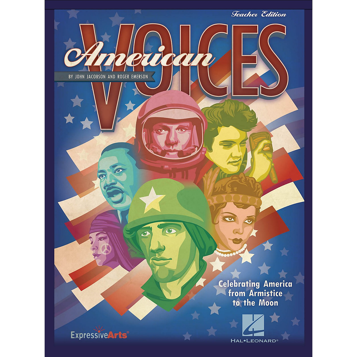 Hal Leonard American Voices (Celebrating America from Armistice to the Moon) PREV CD Composed by John Jacobson thumbnail