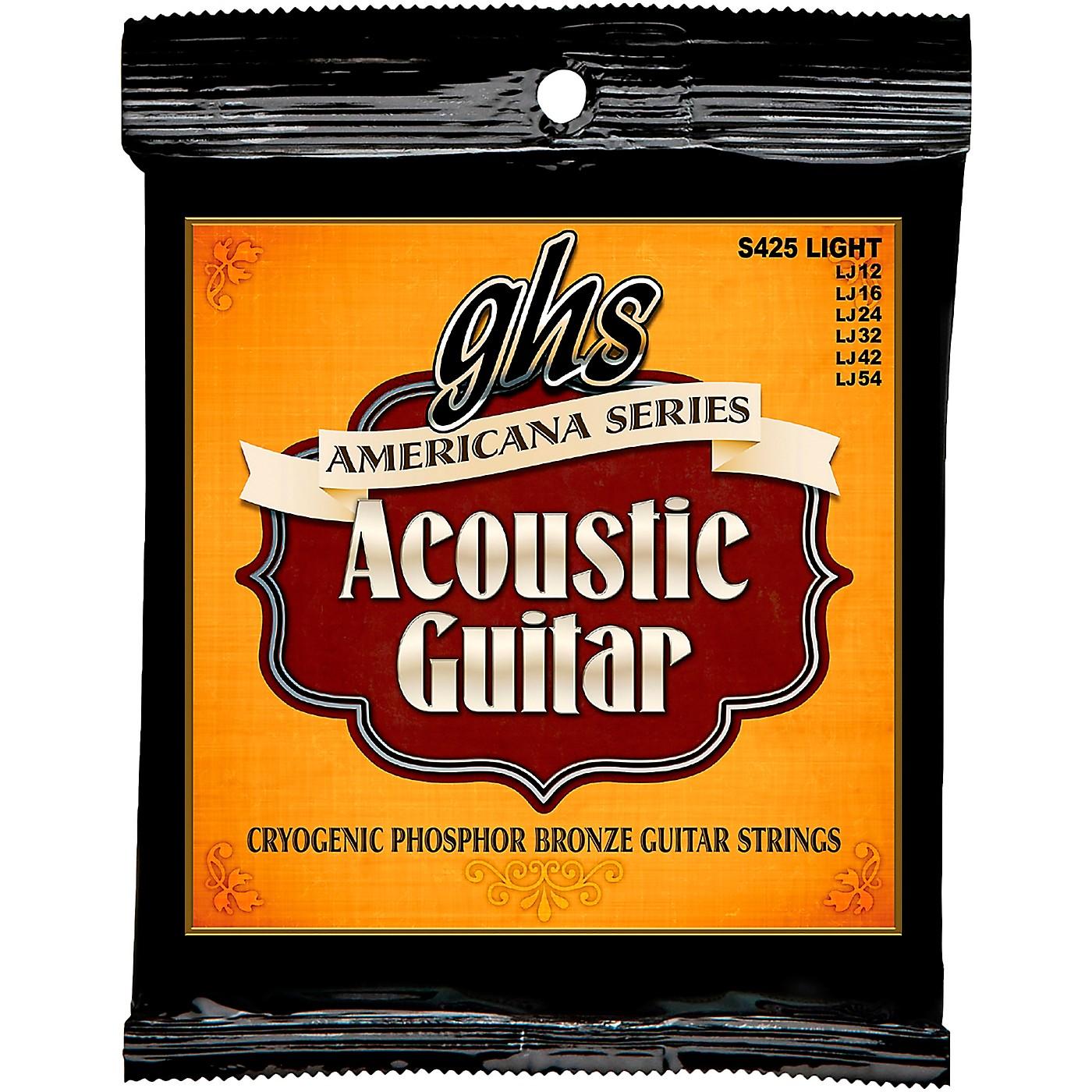 GHS Americana Light Acoustic Guitar Strings (12-54) thumbnail