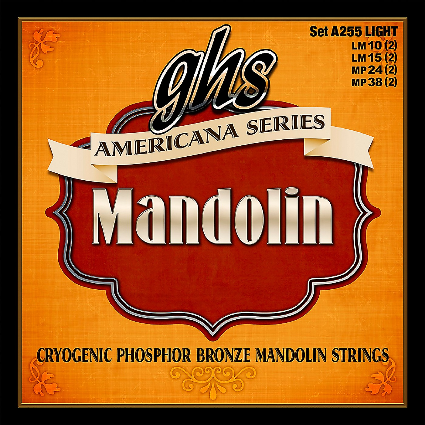 GHS Americana Light Mandolin Strings (10-38) thumbnail