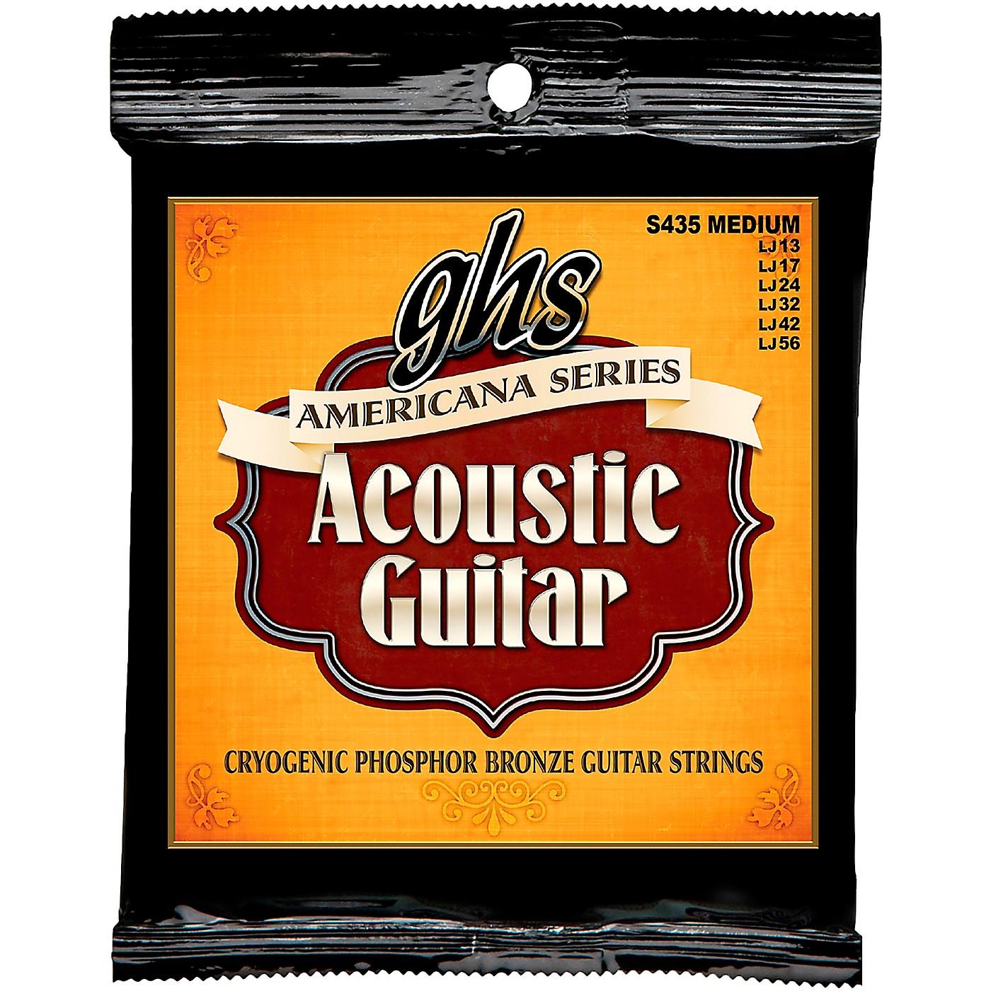 GHS Americana Medium Acoustic Guitar Strings (13-56) thumbnail