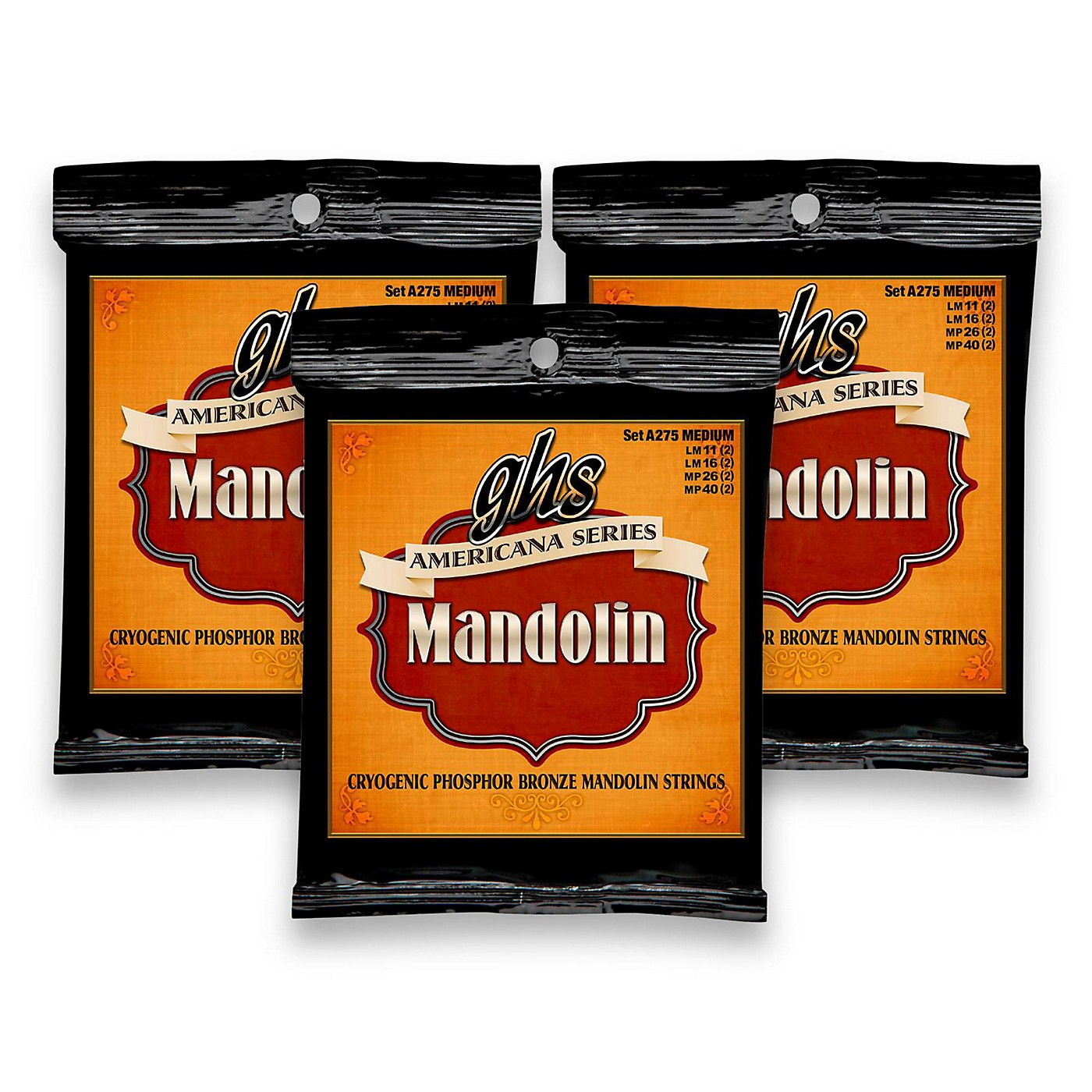 GHS Americana Medium Mandolin Strings (11-40) - 3 Pack thumbnail