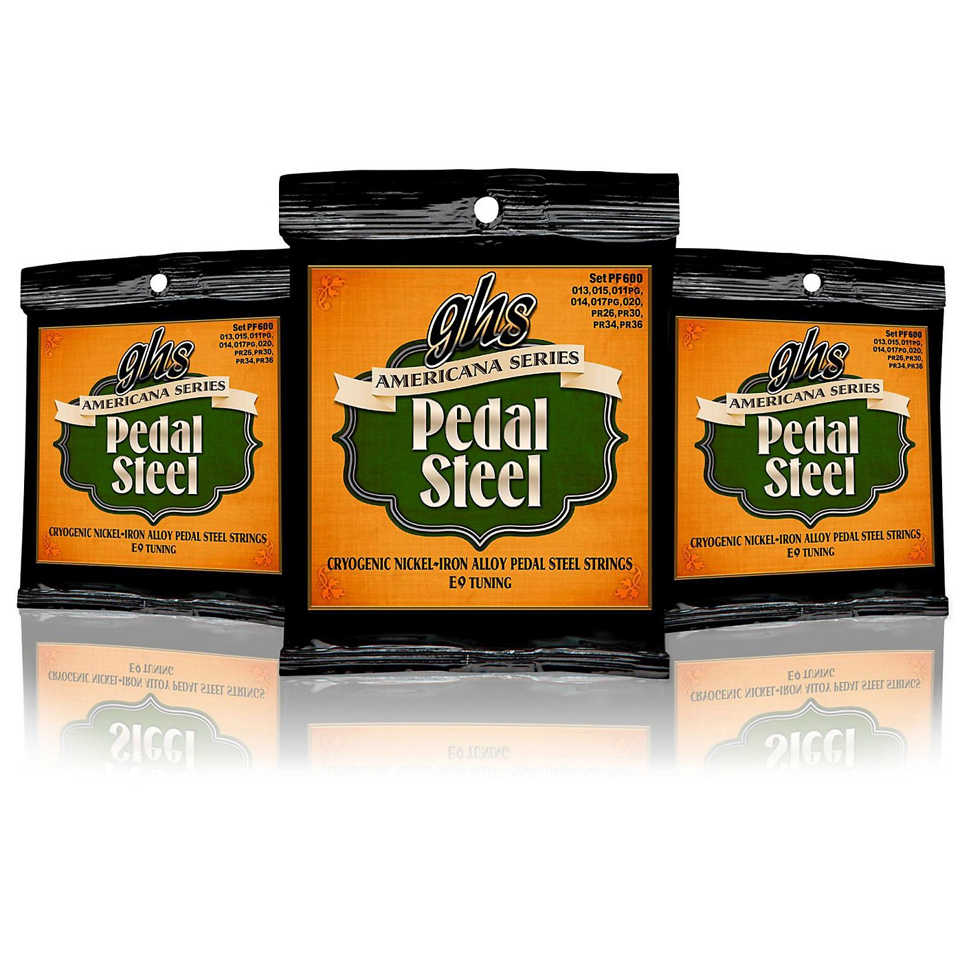 GHS Americana Pedal Steel Strings E9 Tuning (13-36) - 3 Pack thumbnail