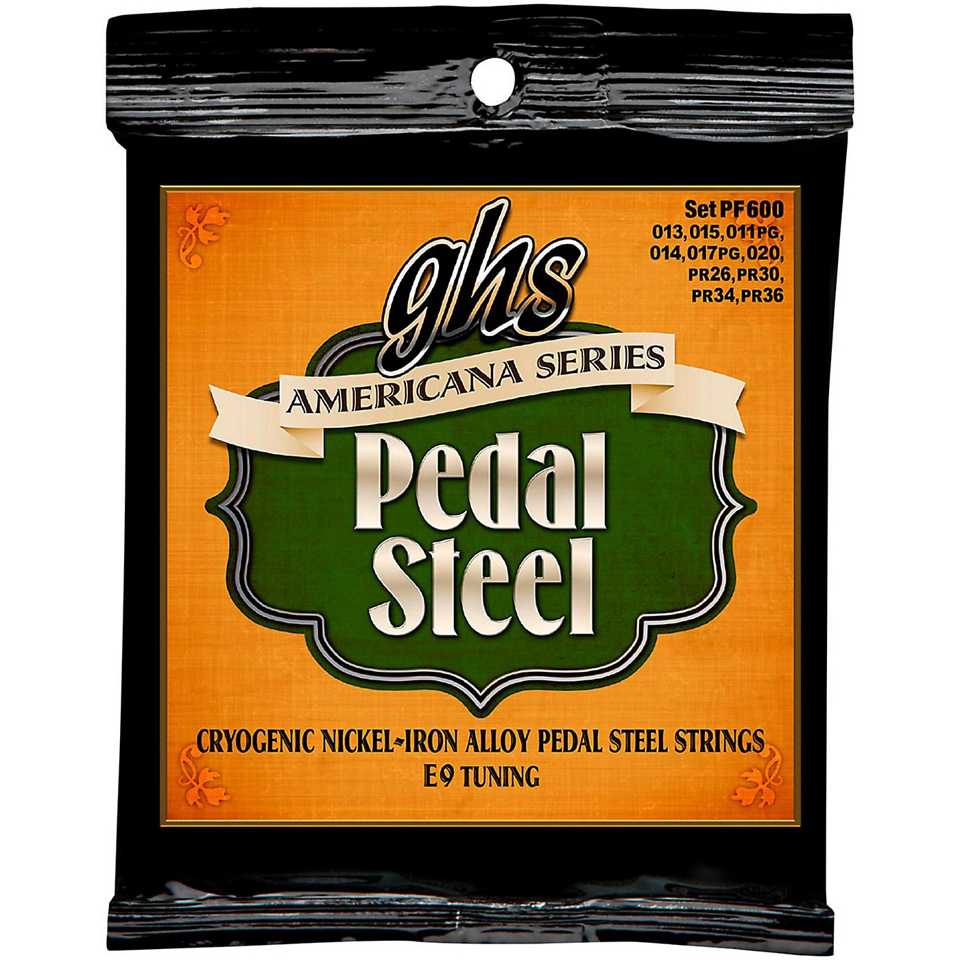GHS Americana Pedal Steel Strings E9 Tuning (13-36) thumbnail