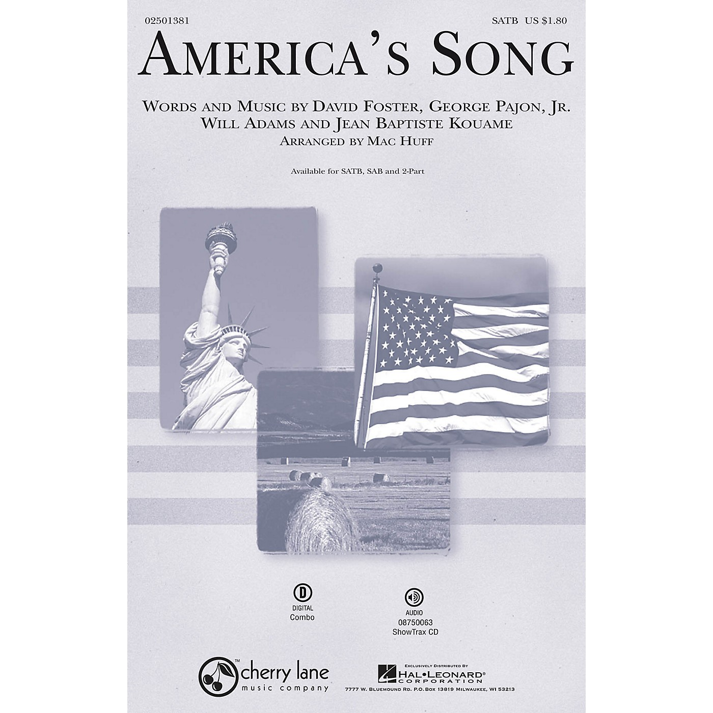Hal Leonard America's Song ShowTrax CD by David Foster Arranged by Mac Huff thumbnail