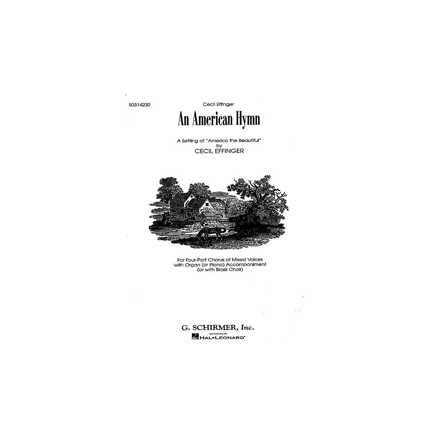 G. Schirmer An American Hymn (A Setting of America the Beautiful) SATB composed by Katherine Lee Bates thumbnail