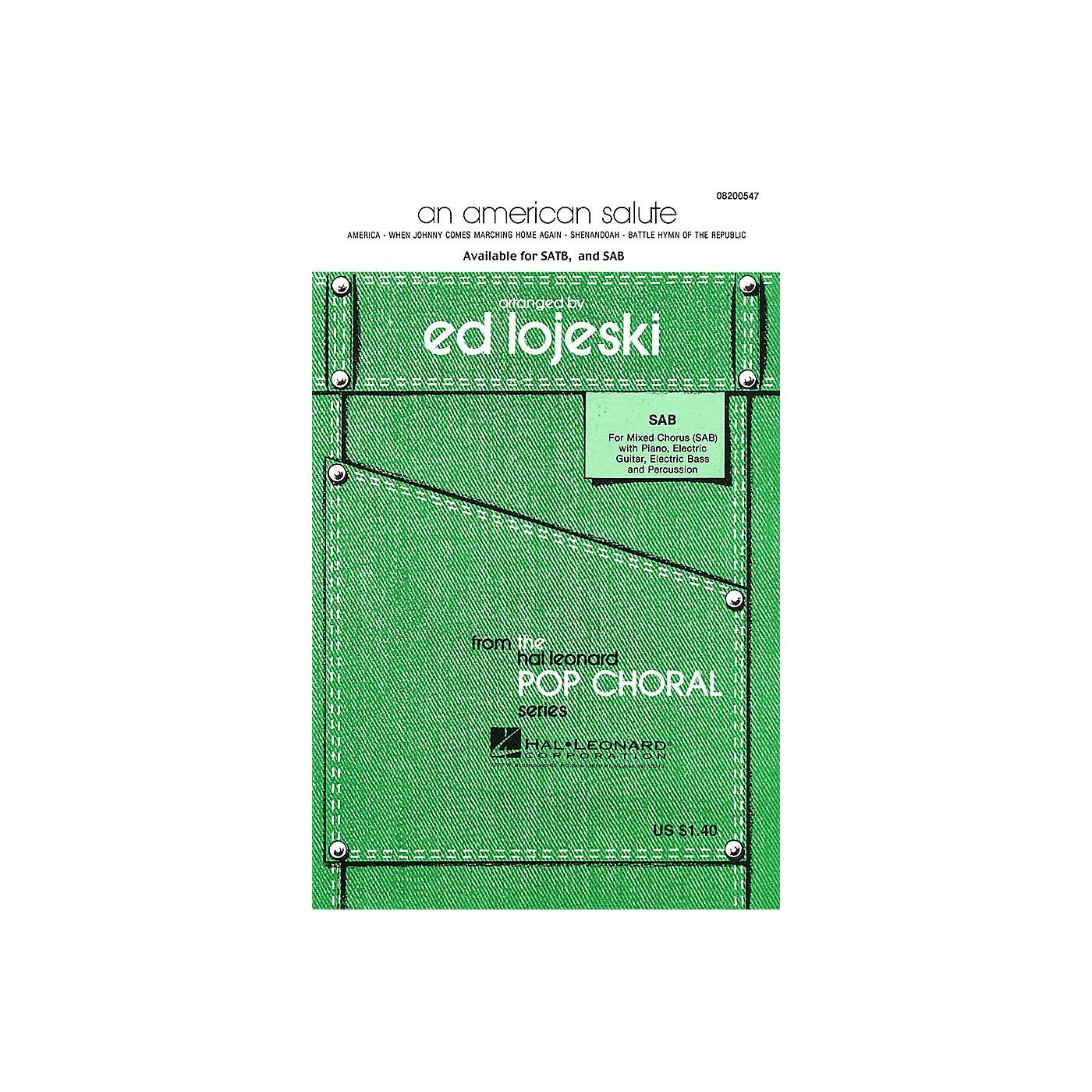 Hal Leonard An American Salute (Medley) (SATB) SATB Arranged by Ed Lojeski thumbnail